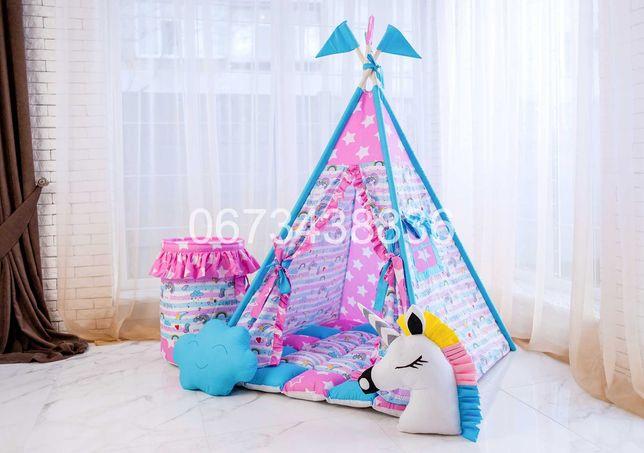 Палатка Вигвам «ЕДИНОРОГИ» Радужный. В наличии 50 моделей! VIGVAM ELIT