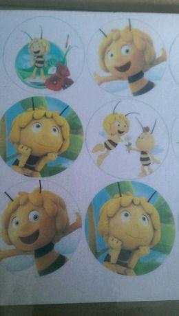 Opłatek na muffinki babeczki Pszczółka Maja 12 sztuk
