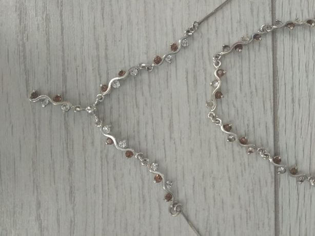 Komplet biżuterii srebrnej próba srebra 925.