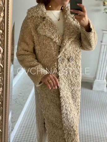 Шуба меховое пальто из натуральной овчины