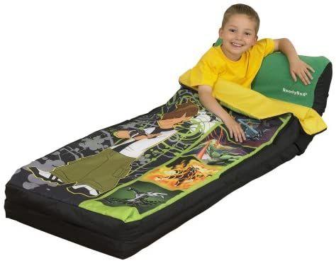 BEN 10 кровать с надувным матрасом, спальник ready bed Worlds Apart