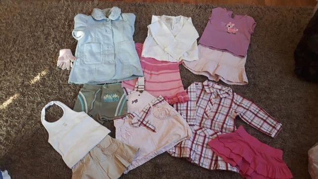 Mega paka 86 92 dla dziewczynki zestaw ubrań stan idealny