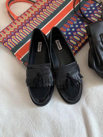 Лоферы туфли  кожа