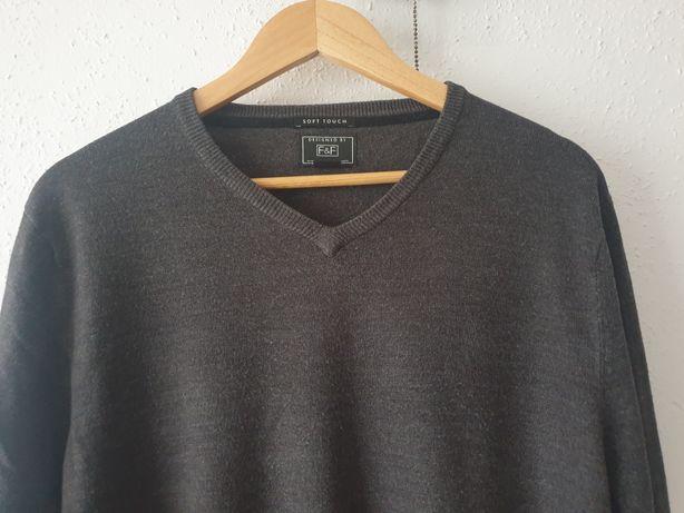 Sweter męski w serek L