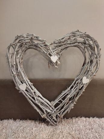 Serce drewniane na ślub dekoracja