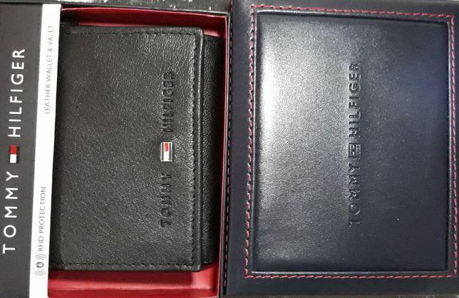 TOMMY HILFIGER Oryginalny Meski Portfel Skorzany System RFID + Pudelko