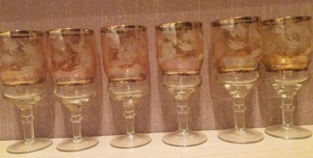 Бокалы цветное стекло 6 шт