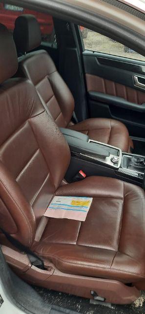 fotele skórzane mercedes w212 kombi