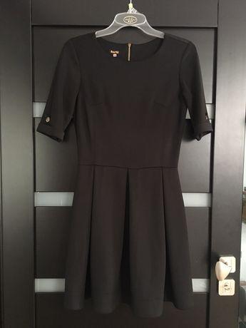 Sukienka - czarna pół klosz roz. 38