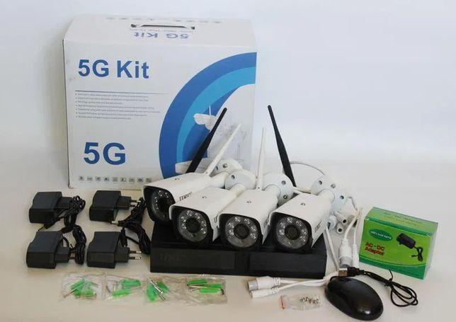 Набор камер видеонаблюдения WiFi KIT Комплект 4 камер Wi-Fi Гарантия