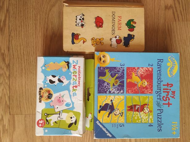 Puzzle dla najmłodszych 1-2 latka i Domino
