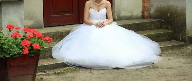 Suknia ślubna z baskinką s