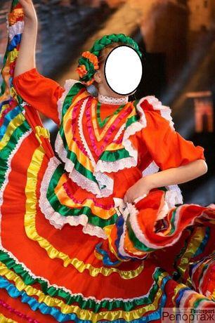 Костюм платье для восточных танцев Мексика