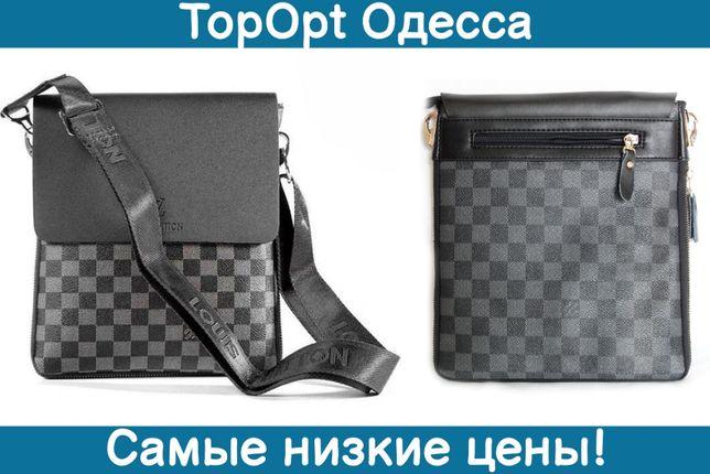 Мужская сумка планшет через плечо Louis Vuitton черная барсетка