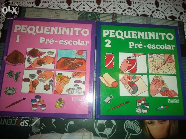 """Coleção de 5 livros didáticos """"Pequenito - Pré Escolar"""""""