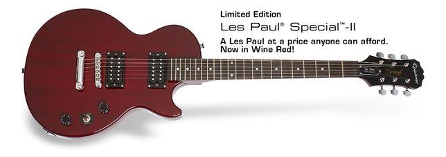 Guitarra eléctrica Epiphone Les Paul Special II EL + Hard Case