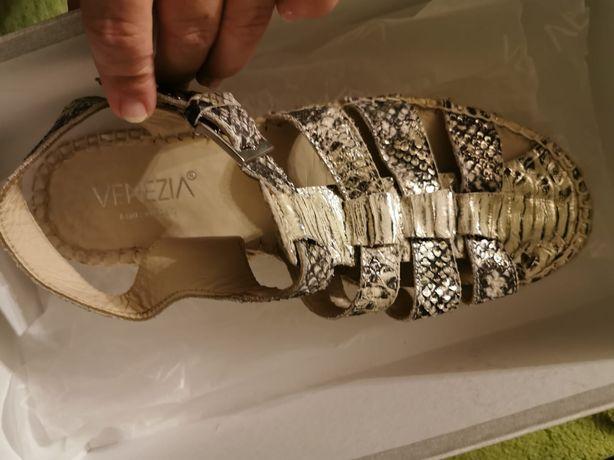 Sandały Venezia, skóra, rozm 38