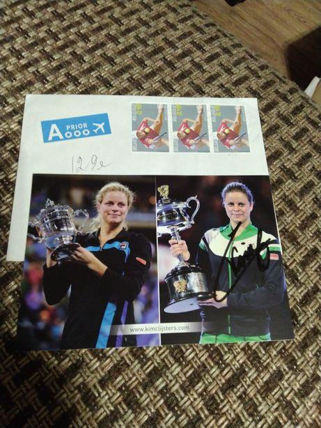 Автограф оригинал, теннисистка Ким Клийстерс ,Clijsters