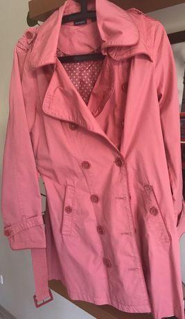 Różowy płaszcz (trencz) - nowy!
