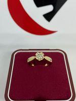 Złoty pierścionek z brylantem 0.55ct