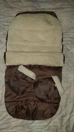 Конверт, чехол, муфта,рукавички для каляски, санок Cinder comfort