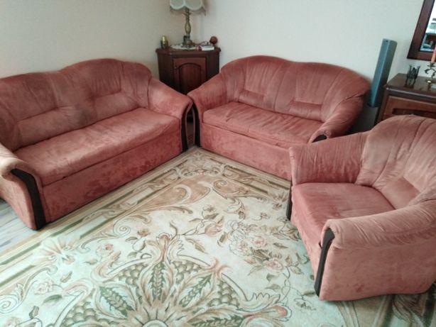 Zestaw rozkładanych kanap z fotelem 1+2+3