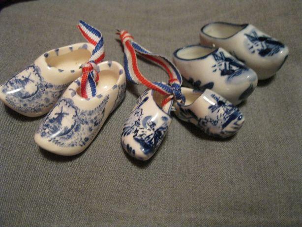 ДЕКОР набор 3шт фарфор тапки туфли сувенир британия интерьер handmade