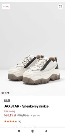 BRONX Sneakersy na platformie 38/39