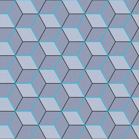 Tapeta ścienna młodzieżowa geometryczna 3D bryły sześciany kwadraty