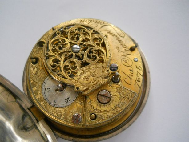 Часы Лондон 1793 год, серебро.