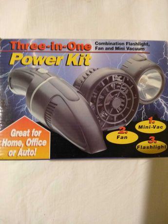 Niezbędnik: latarka, lampa, wentylator i mini-odkurzacz