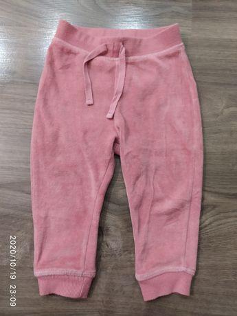 Велюровые штаны на девочку 9-12
