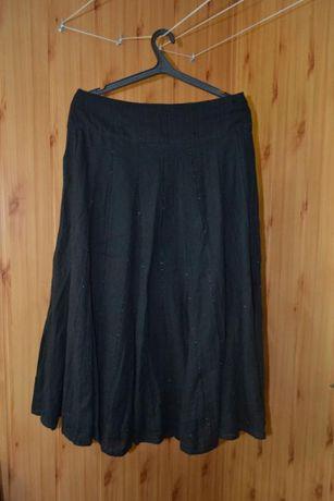 Черная котоновая индийская юбка