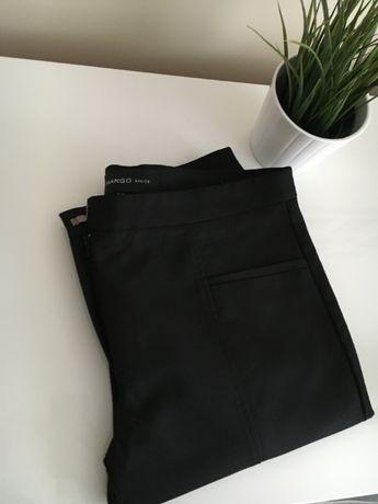 Eleganckie spodnie MANGO, czarne do kostek rozm. 38 M