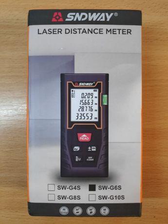 Лазерная рулетка дальномер - SNDWAY G6S 60 метров. Новый! 1700р