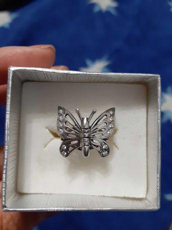 """Кольцо серебряное """"Бабочка"""""""