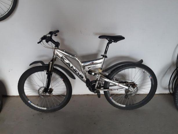 Rower miejski gorski kands srebrny 26 treckingowy Mielec damski męski