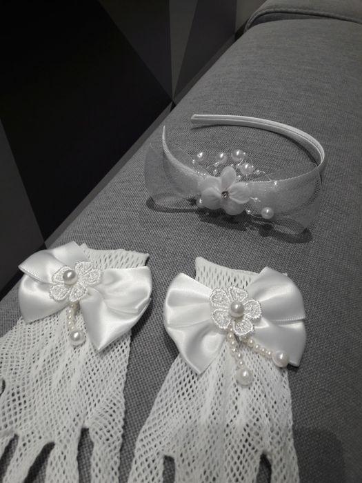 Biała opaska do włosów do komunii Skarżysko-Kamienna - image 1