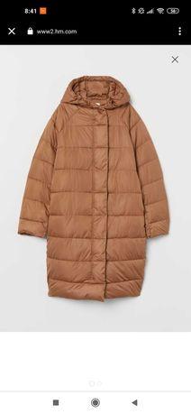 Kurtka płaszcz beżowy H&M watowany