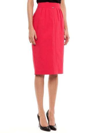 Simple czerwona malinowa spódniczka spódnica 34 XS 36 S