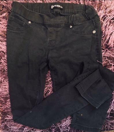 Czarne spodnie na gumce M