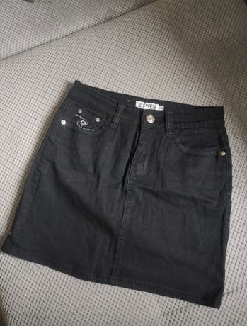 Spódniczka mini czarna M