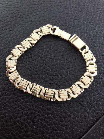 Złota bransoleta pr585 piękny splot
