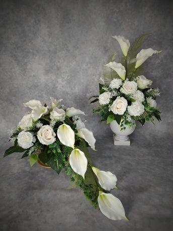 Stroik na  nagrobek, cmentarz, grób, wiązanka, kompozycje kwiaty