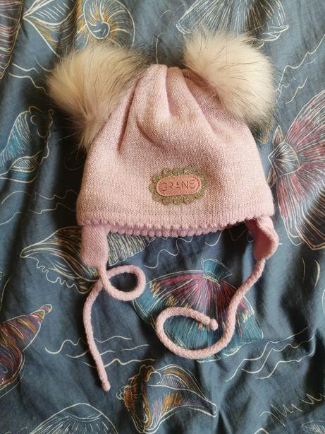 Шапка для дівчинки зимова