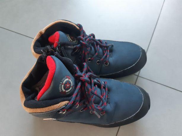Buty zimowe r.34 ocieplane chłopięce