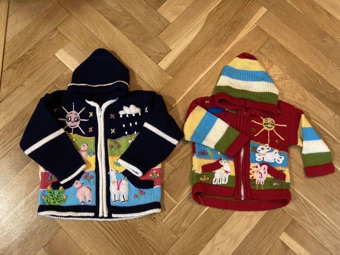 Sweter 2 szt rozmiar 74-80 i 80-86 Warszawa - image 1