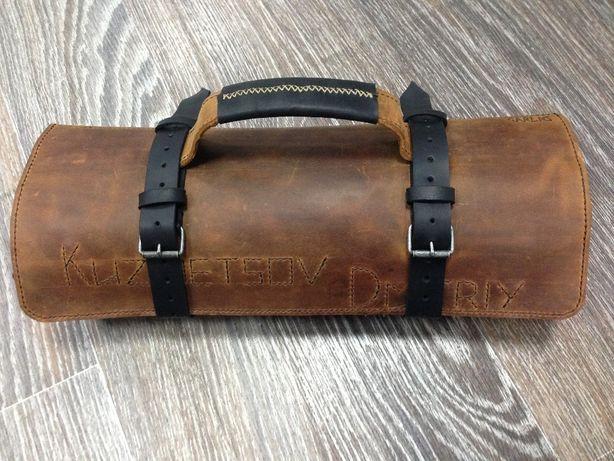 Скрутка для ножей из кожи ручной работы, сумка для повара
