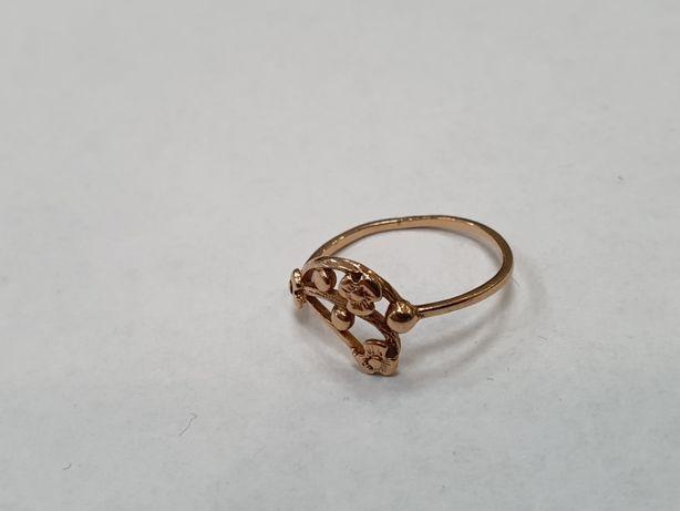 Klasyczny złoty pierścionek/ 585/ 1.36 gram/ R14/ Lite złoto/ sklep