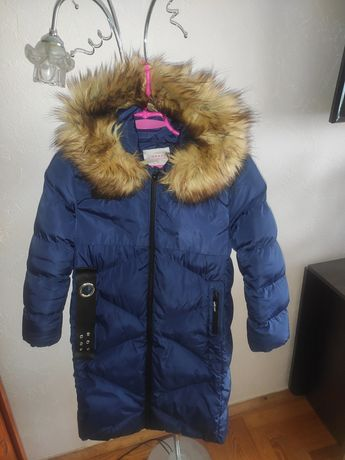 Куртка парка зимова на дівчину 11-12 років